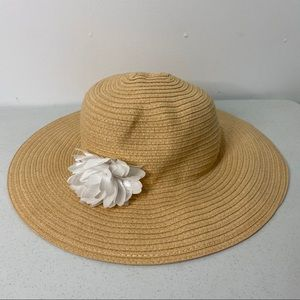 Gymboree Youth Girl Floppy Floral Sun Hat Sz Large